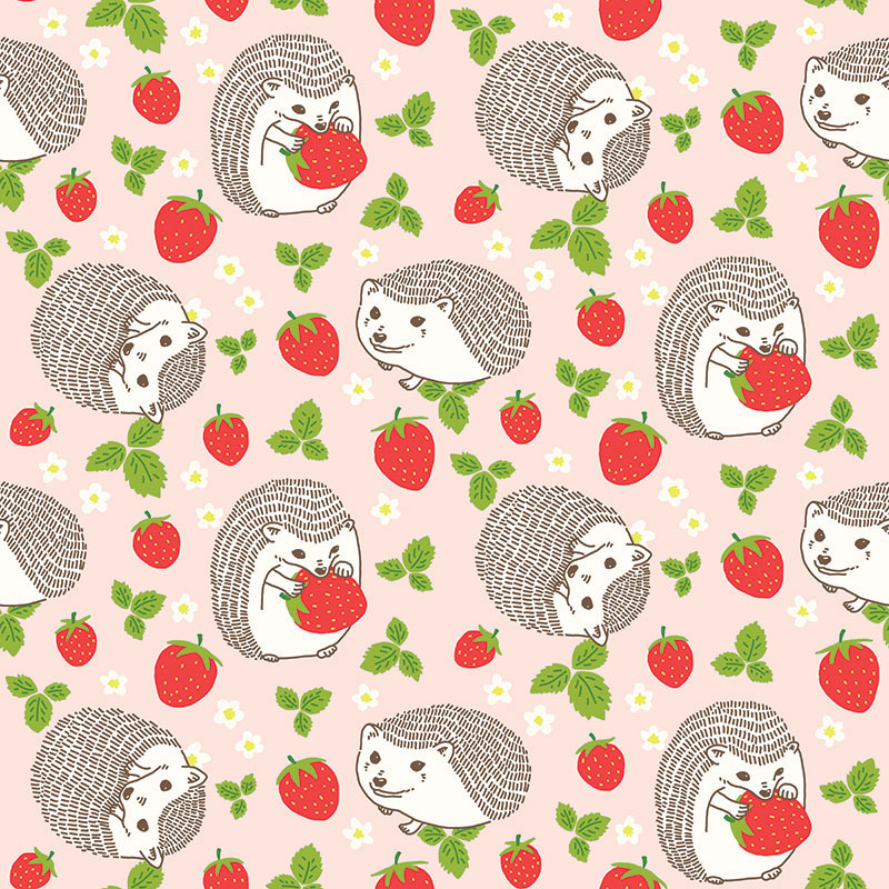 Hedgehogs-and-strawberries