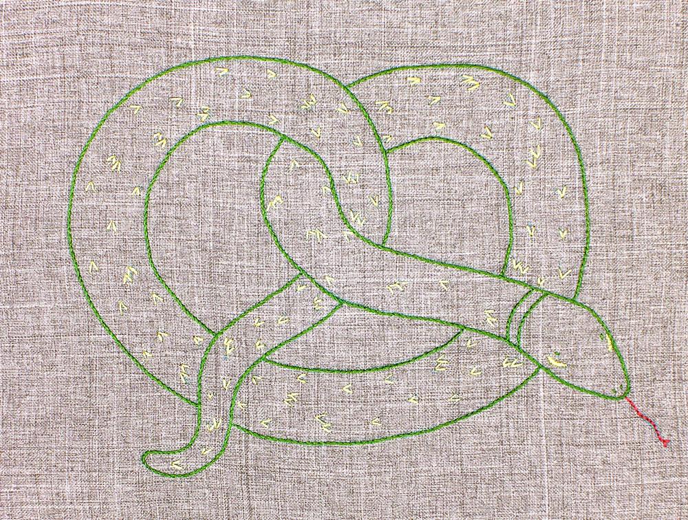 pretzel-snake